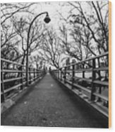Bridge To The East River Wood Print