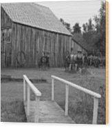 Bridge To The Past Wood Print