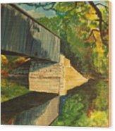 Bridge To Windham, Maine Wood Print