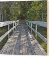Bridge To Woods 1 Wood Print