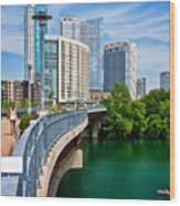 Bridge With A View Wood Print