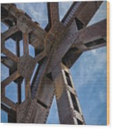 Bridge Work Wood Print
