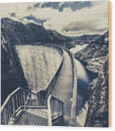 Bridges And Outback Dams Wood Print