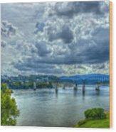 Bridges Of Chattanooga Tennessee Wood Print