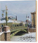 Bridges Of Petersburg Wood Print