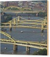 Bridges Of Pittsburgh Wood Print