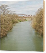 Bridges Over The Guadalupe Wood Print