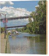 Bridges Spanning The Rondout Wood Print
