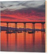 Bridgescape Wood Print
