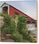 Bridgeton Covered Bridge - Indiana Square Art Wood Print