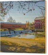 Bridgeton Mill Covered Bridge Wood Print