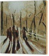 Bridgewalkers Wood Print