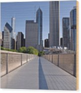 Bridgeway To Chicago Wood Print