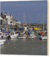 Bridlington Harbour Wood Print