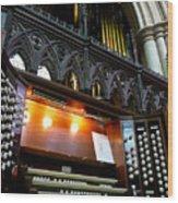 Bridlington Priory Pipe Organ Wood Print