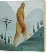 Brief Encounter With The Tall Man Wood Print