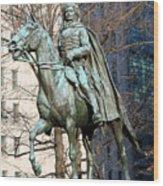 Brigadier General Casimir Pulaski Saved George Washington's Life Wood Print