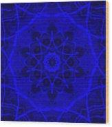 Brigadoon No. 1 Neon Blue Wood Print