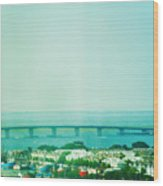 Brigantine Bridge - New Jersey Wood Print