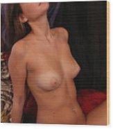 Brigette Nude #7 Wood Print
