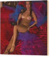Brigette Recling Nude #4 Wood Print