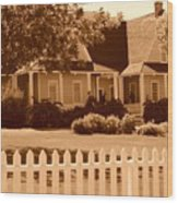Brigham Young Home Wood Print