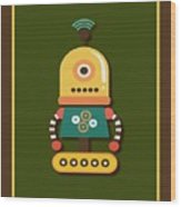 Bright And Colorful Robot Toy Wood Print