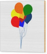 Bright Balloons Picture Wood Print