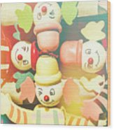 Bright Beaming Clown Show Act Wood Print