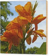 Bright Bloom Wood Print