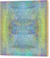 Bright Chalice Ancient Symbol Tapestry Wood Print