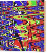 Bright Color Mix Abstract Wood Print
