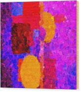 Bright Colours Abstract Wood Print
