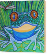 Bright Eyes 2 Wood Print