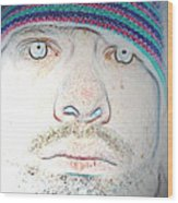 Bright Face Wood Print