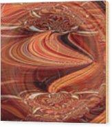 Bright Fantasies Of Delightful Orange Wood Print