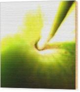 Bright Green Grannie Wood Print