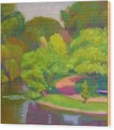 Bright Hazy Day Chicago Botanical Gardens Wood Print