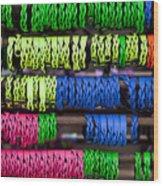 Bright Leather Bracelets Wood Print