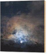 Bright Night Skies Wood Print