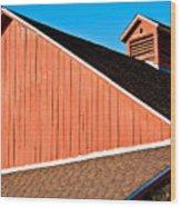 Bright Red Barn Wood Print