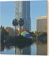 Bright Spot In Downtown Orlando Wood Print