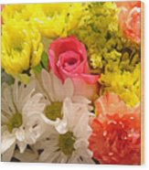 Bright Spring Flowers Wood Print by Amy Vangsgard