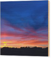 Bright Sunset Wood Print