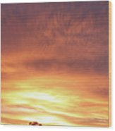 Bright Sunset Wood Print