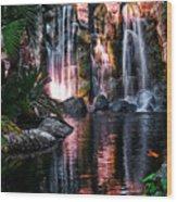 Bright Waterfalls Wood Print