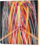 Brightly Colored Abstract Light Painting At Night From The Fireb Wood Print