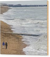 Brighton Shore Wood Print