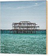 Brighton West Pier Wood Print