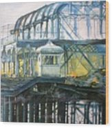 Brighton's West Pier-lone Survivor Wood Print